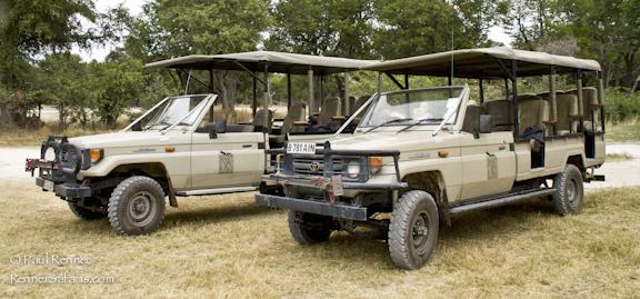 Our safari vehicles in Botswana-0911