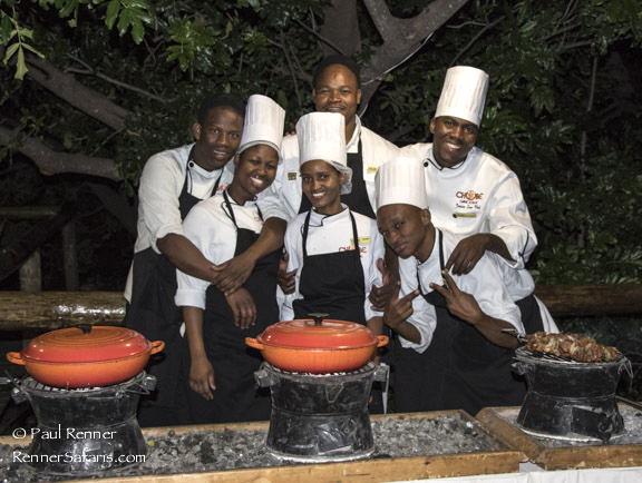 Chefs and Waiters at Chobe Game Lodge-7855