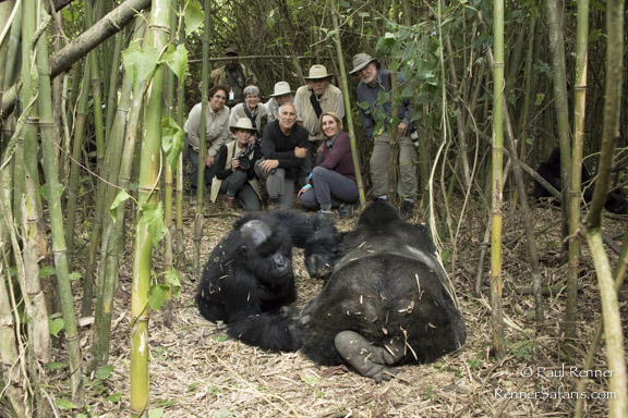 Our Group with Mountain Gorillas-8103