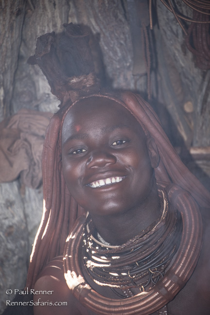 Himba Woman in Smokey Hut, Namibia-9844