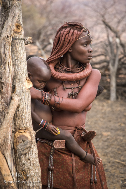 Himba Woman with Child, Namibia-9671