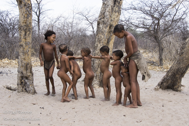 San Bushman Children Playing, Namibia-0269