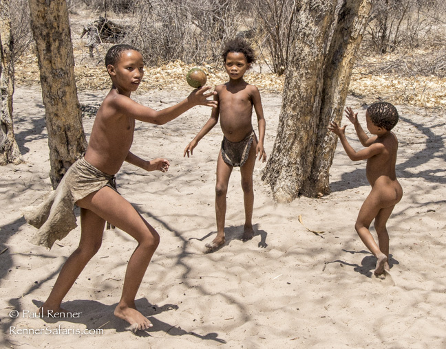 San Bushman Children Playing, Namibia-0324